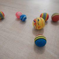 Balles rebondissantes pour chats